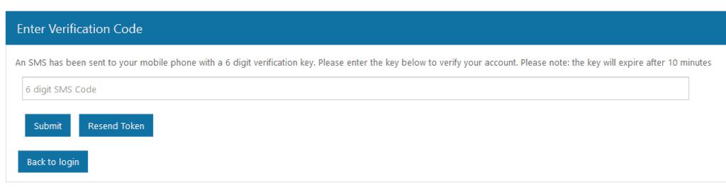 登録フォームの電話番号の確認のページ