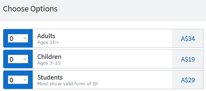 フェザーデールワイルドライフパークチケット料金
